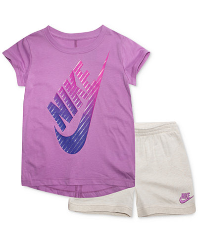 Nike Pc GraphicPrint TShirt Shorts Set Toddler Girls Sets - Free invoice software pc nike factory outlet store online