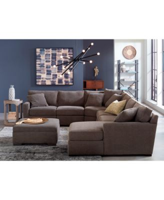 ... Furniture Radley 5 Piece Fabric Chaise Sectional Sofa, Created For  Macyu0027s ...