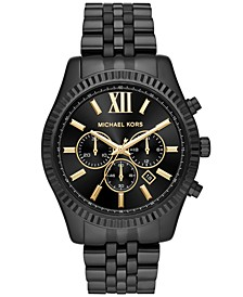 Men's Chronograph Lexington Black Stainless Steel Bracelet Watch 44mm