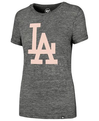 '47 Brand Women's Los Angeles Dodgers Hero Pink Logo T-Shirt