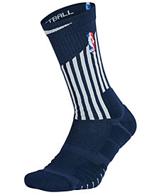 Nike Men's Detroit Pistons Elite Quick Crew Socks