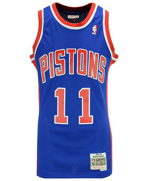 e56a406eed95 ... Mitchell   Ness Men s Isiah Thomas Detroit Pistons Hardwood Classic  Swingman Jersey ...