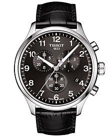 Tissot Men's Swiss Chronograph Chrono XL Classic T-Sport Black Leather Strap Watch 45mm