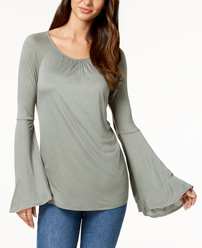 Style & Co Petite Flared-Sleeve Tunic, Created for Macy's