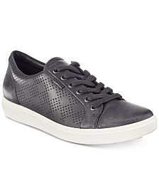 Ecco Women's Soft 7 Perforated Lace-Up Sneakers