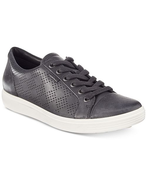 ca8efc1f330e8a Ecco Women's Soft 7 Perforated Lace-Up Sneakers & Reviews - Athletic ...