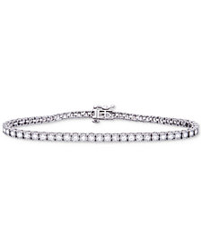 Diamond Miracle Plate Tennis Bracelet (2 ct. t.w.) in 14k White Gold