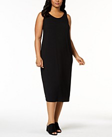 Plus Size Sleeveless Stretch Jersey Midi Dress