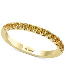 EFFY® Green Sapphire Band (5/8 ct. t.w.) in 14k Gold (Also Available In Purple Sapphire & Yellow Sapphire)