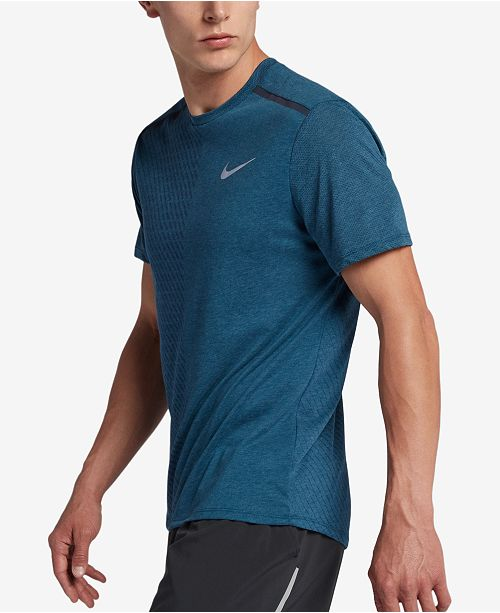 deb8c8d6a Nike Men s Breathe Rise 365 Running Shirt   Reviews - T-Shirts - Men ...
