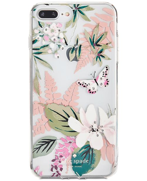 best service 1d9c9 e19ab kate spade new york Jeweled Botanical Clear iPhone 8 Plus Case ...