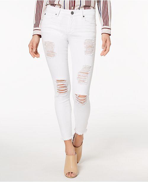 Emma Raw-Hem Ripped Skinny Jeans