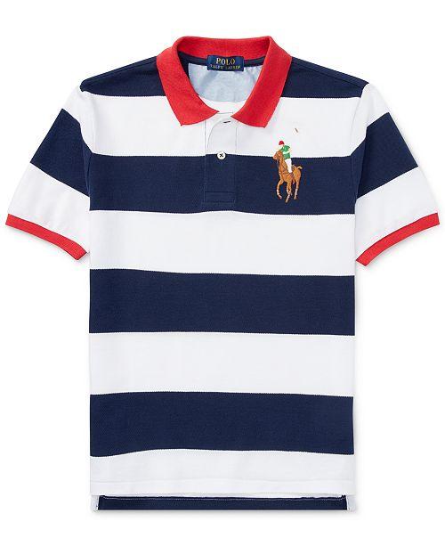 c4f965e4 Polo Ralph Lauren Ralph Lauren Striped Cotton Polo Shirt, Big Boys ...