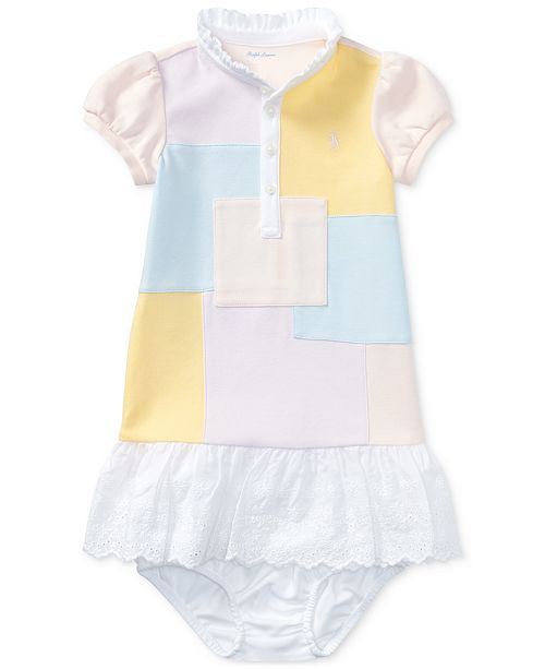 b29bd403f ... Polo Ralph Lauren Ralph Lauren Patchwork Dress & Bloomer, Baby Girls ...