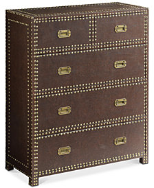 Churchill Faux Leather Chest, Quick Ship