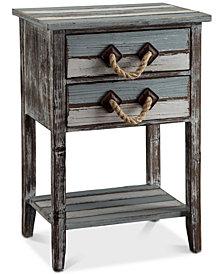Nantucket 2-Drawer Table, Quick Ship