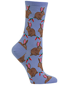 Hot Sox Women's Bunnie Crew Socks