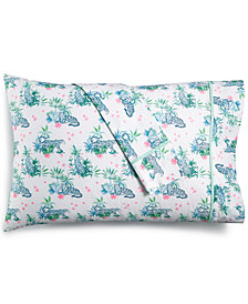 CLOSEOUT! Whim by Martha Stewart  Collection Novelty Print Standard Pillowcase Pair, 200 Thread Count 100% Cotton Percale, Created for Macy's