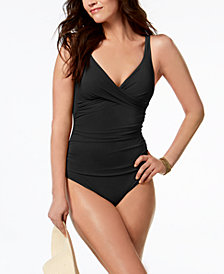 Profile by Gottex Tutti Frutti V-Neck Tummy Control One-Piece Swimsuit