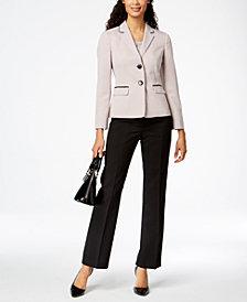 Le Suit Textured Two-Button Pantsuit