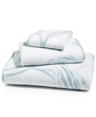 Marble Turkish Cotton Fashion Wash Towel, Created for Macy's