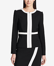 Calvin Klein Colorblocked Jacket, Regular & Petite