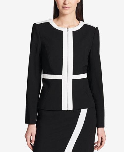Calvin Klein Colorblocked Jacket, Regular & Petite