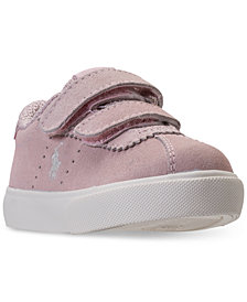 Polo Ralph Lauren Toddler Girls' Hadley Stay-Put Closure Casual Sneakers from Finish Line