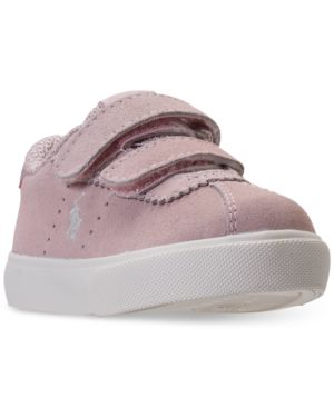 Polo Ralph Lauren Toddler Girls' Hadley Stay-Put Closure Casual Sneakers from Finish Line thumbnail