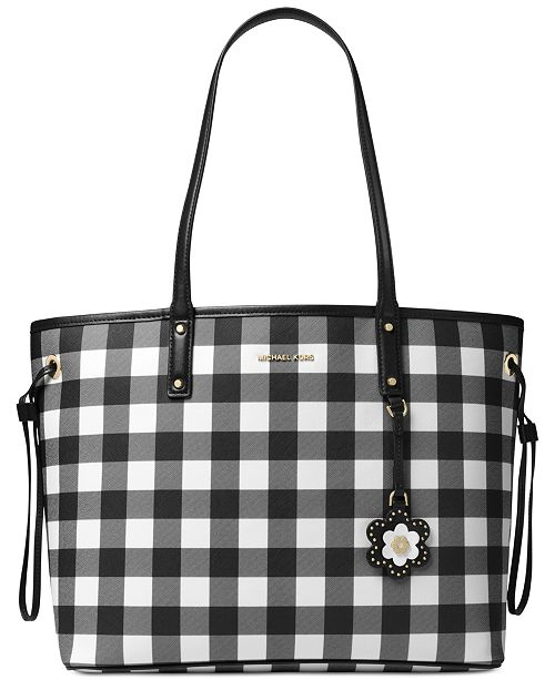 e8326cca6339 Michael Kors Gingham Large Tote, Created for Macy's & Reviews ...