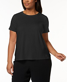 Plus Size Stretch Jersey T-Shirt