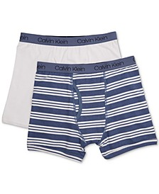 2-Pk. Cotton Boxer Briefs, Little & Big Boys