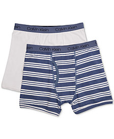 Calvin Klein 2-Pk. Cotton Boxer Briefs, Toddler Boys, Little Boys & Big Boys
