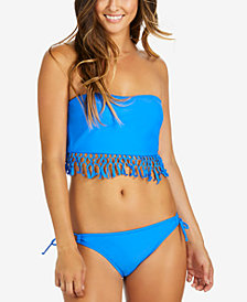 Raisins Bali Fringe Bikini Top & Side-Tie Bottoms