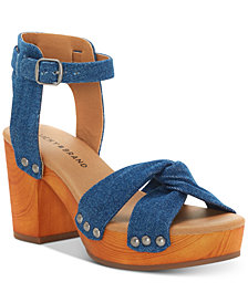 Lucky Brand Whitneigh Wooden Platform Sandals