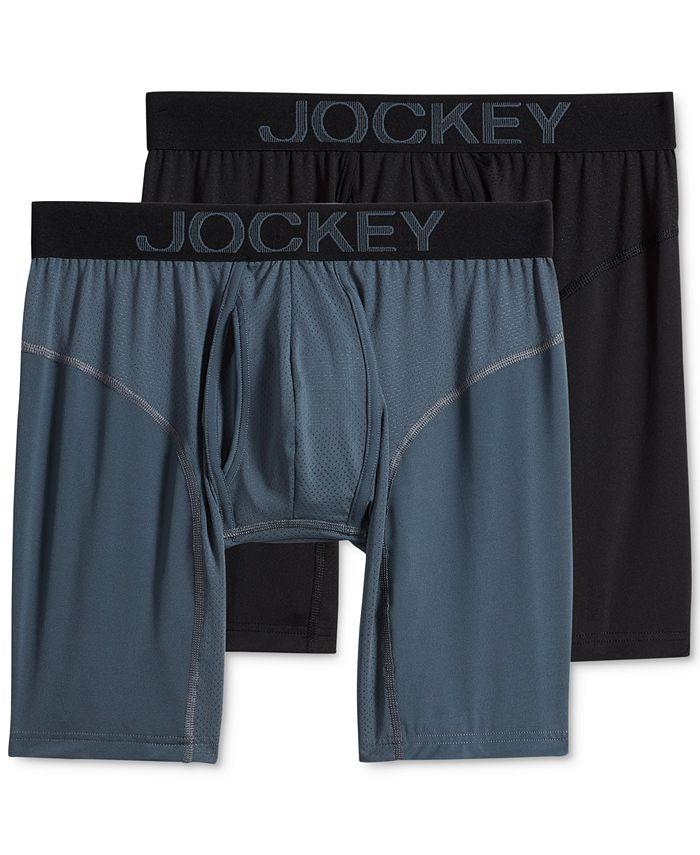 Jockey - Men's 2-Pk. RapidCool Midway Boxer Briefs