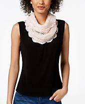 I.N.C. Floral Lace Infinity Scarf, Created for Macy's