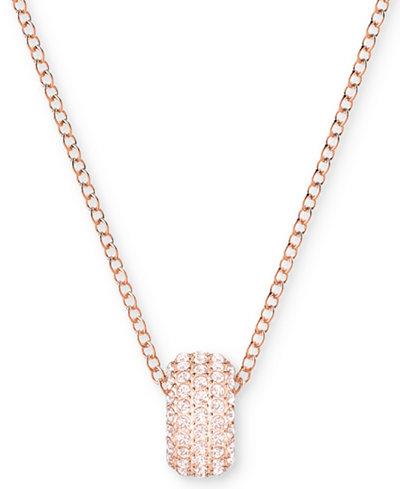 Swarovski Rose Gold-Tone Crystal Ring 14-3/4