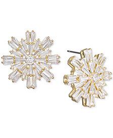 Jewel Badgley Mischka Baguette Crystal Starburst Cluster Stud Earrings