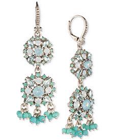 Marchesa Crystal & Imitation Pearl Double Drop Earrings