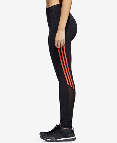 adidas Mesh-Trimmed Ankle Leggings