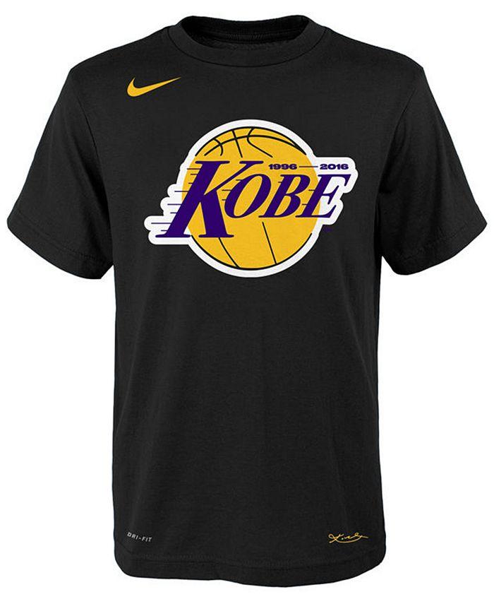 Nike Kobe Bryant Los Angeles Lakers Kobe Logo T-Shirt, Big Boys (8 ...