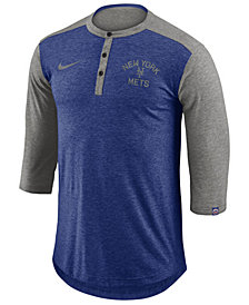 Nike Men's New York Mets Dry Henley Top