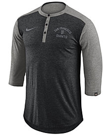 Nike Men's San Francisco Giants Dry Henley Top