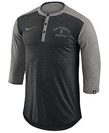 Nike Men's San Francisco Giants Dry Henley Top