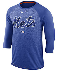 Nike Men's New York Mets AC Cross-Dye Raglan T-Shirt