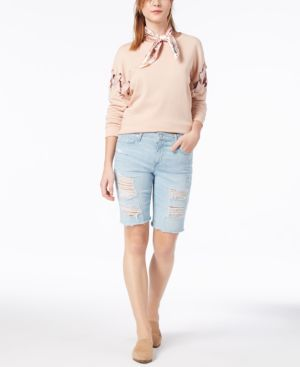 The Finn Denim Bermuda Shorts In Teena