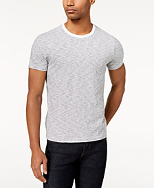 Brooks Brothers Men's Textured Feeder-Stripe T-Shirt