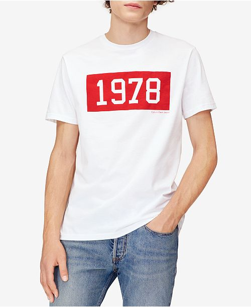 0a7b9b950 Calvin Klein Jeans Men's 1978 Graphic-Print T-Shirt & Reviews - T ...
