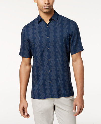 Alfani Men's Geometric Dot-Print Shirt, Created for Macy's